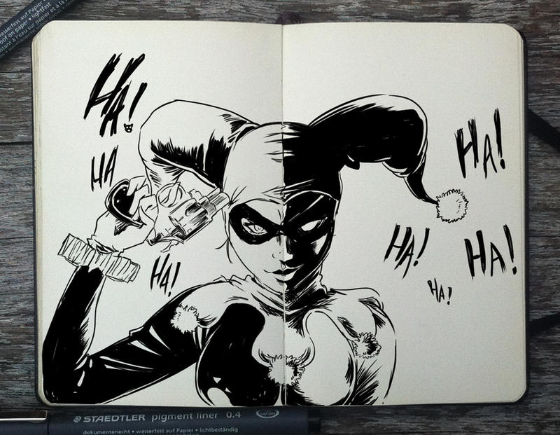 #259 Harley Quinn by 365-DaysOfDoodles