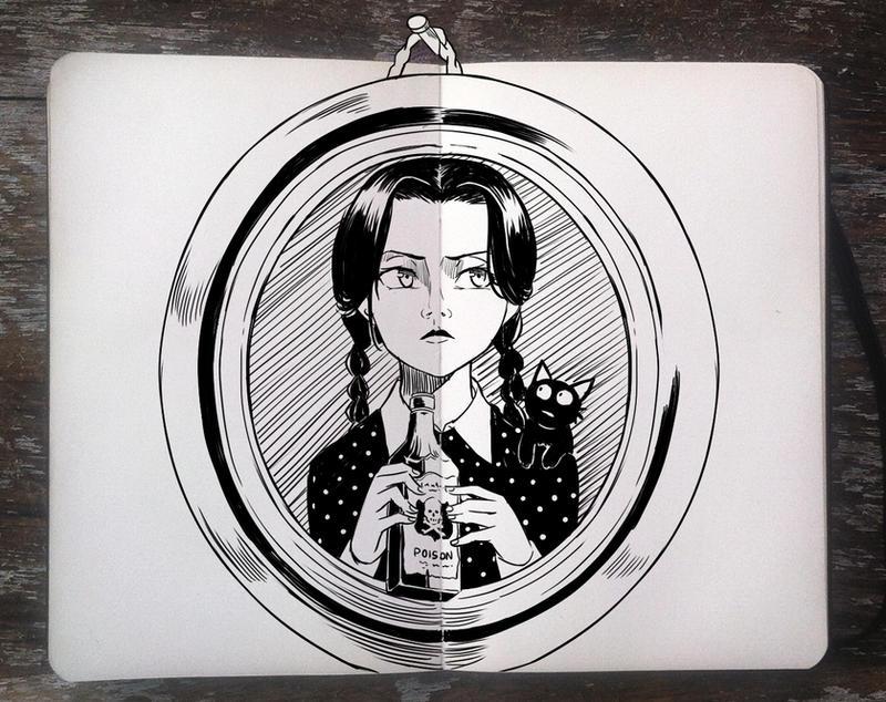 #270 Wednesday Addams by Picolo-kun