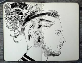 #290 The head of a Sailor