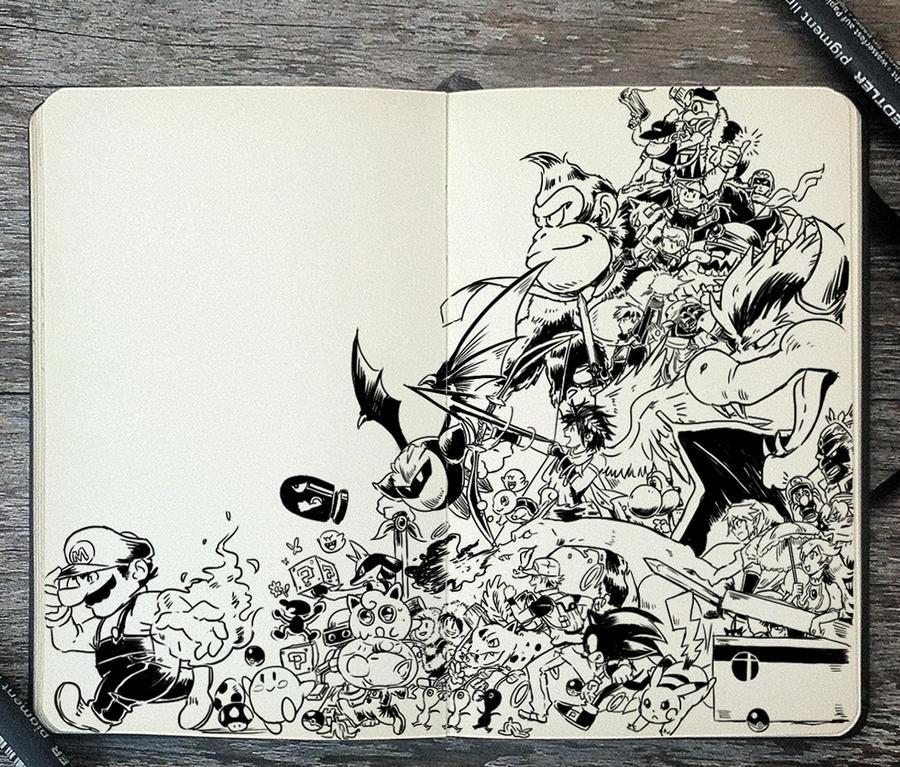 #300 Super Smash Bros by 365-DaysOfDoodles