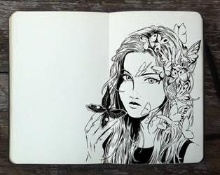 #303 You give me butterflies by Picolo-kun