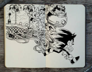#305 Sonic The Hedgehog by Picolo-kun