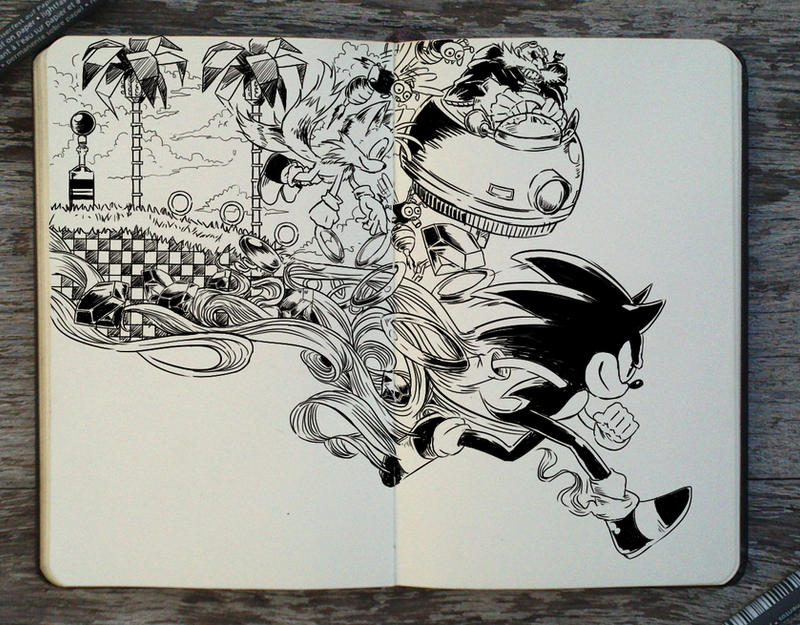 #305 Sonic The Hedgehog by 365-DaysOfDoodles