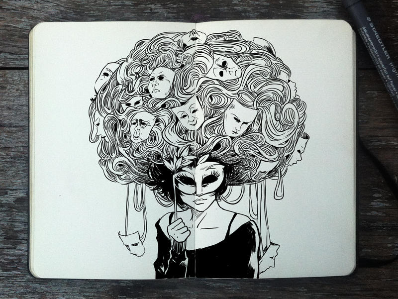 #342 Masquerade Ball by 365-DaysOfDoodles