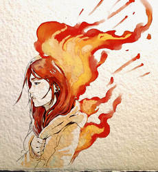 .: Up in Flames by Picolo-kun