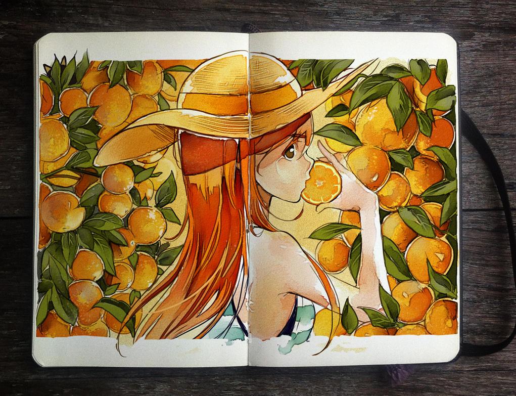 .: Orange is the New Color by Picolo-kun