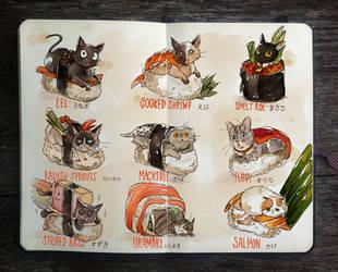 .: Sushi Cats by Picolo-kun