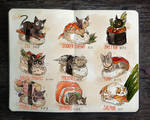 .: Sushi Cats by Picolo-kun