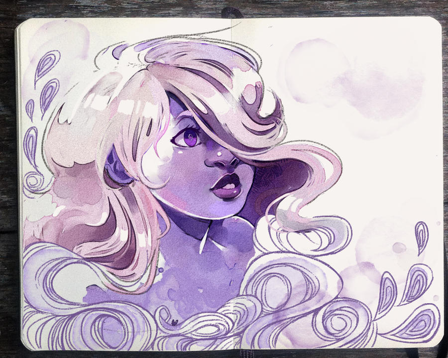 facebook|Instagram |Tumblr|Patreon Just a simple Amethyst doodle to pair up with my Lapis Lazuli I'm still trying to step out of artblock but I appreciate so much your support and love. Thank ...