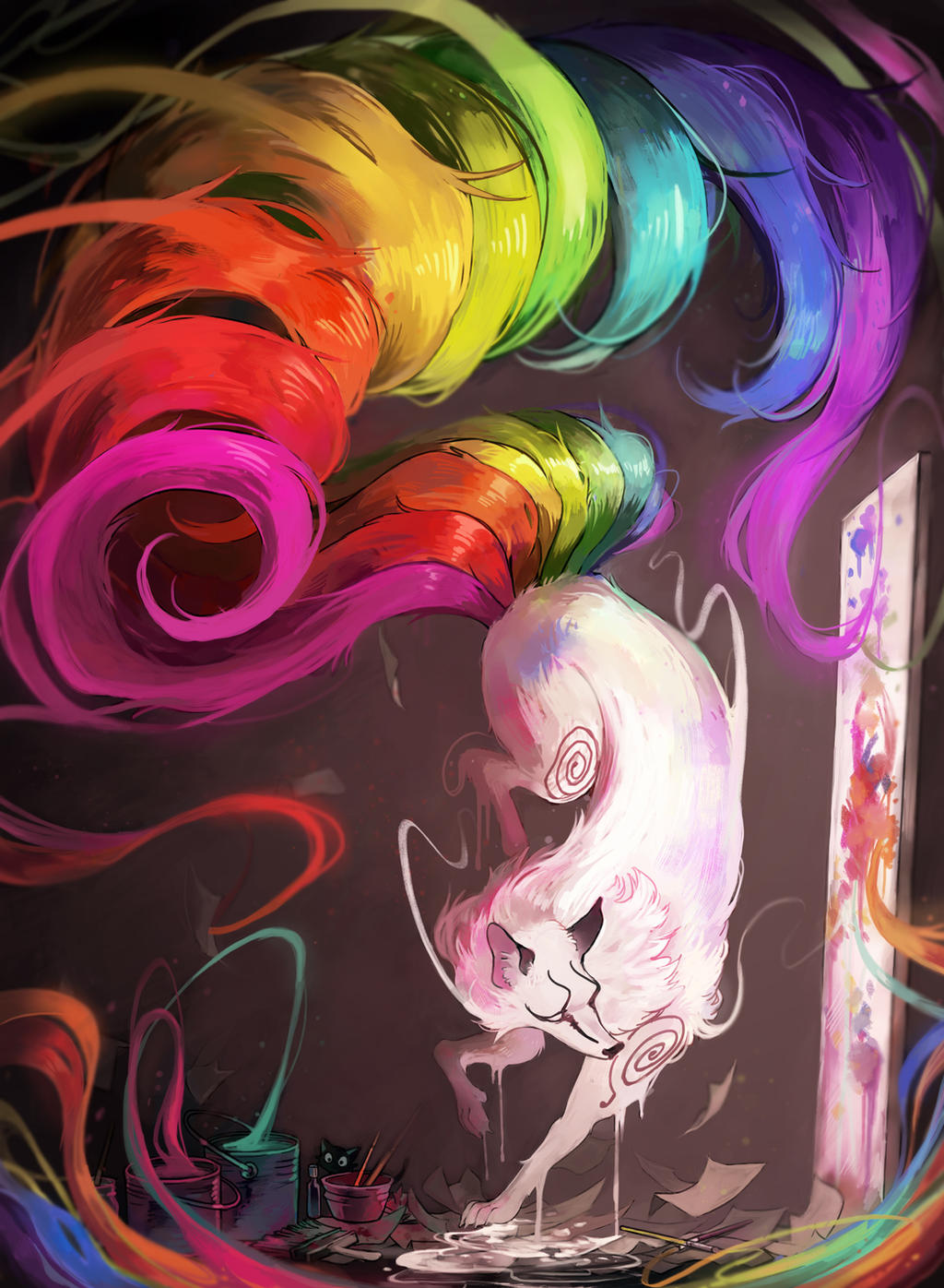 Nine Brushes Painter by Picolo-kun