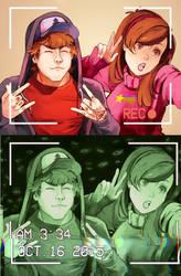 Gravity Falls - grown ups by Picolo-kun
