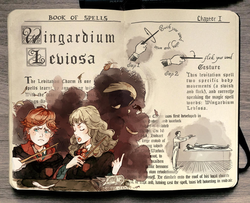 Harry Potter Book Excerpt ~ Harry potter wingardium leviosa by picolo kun on deviantart