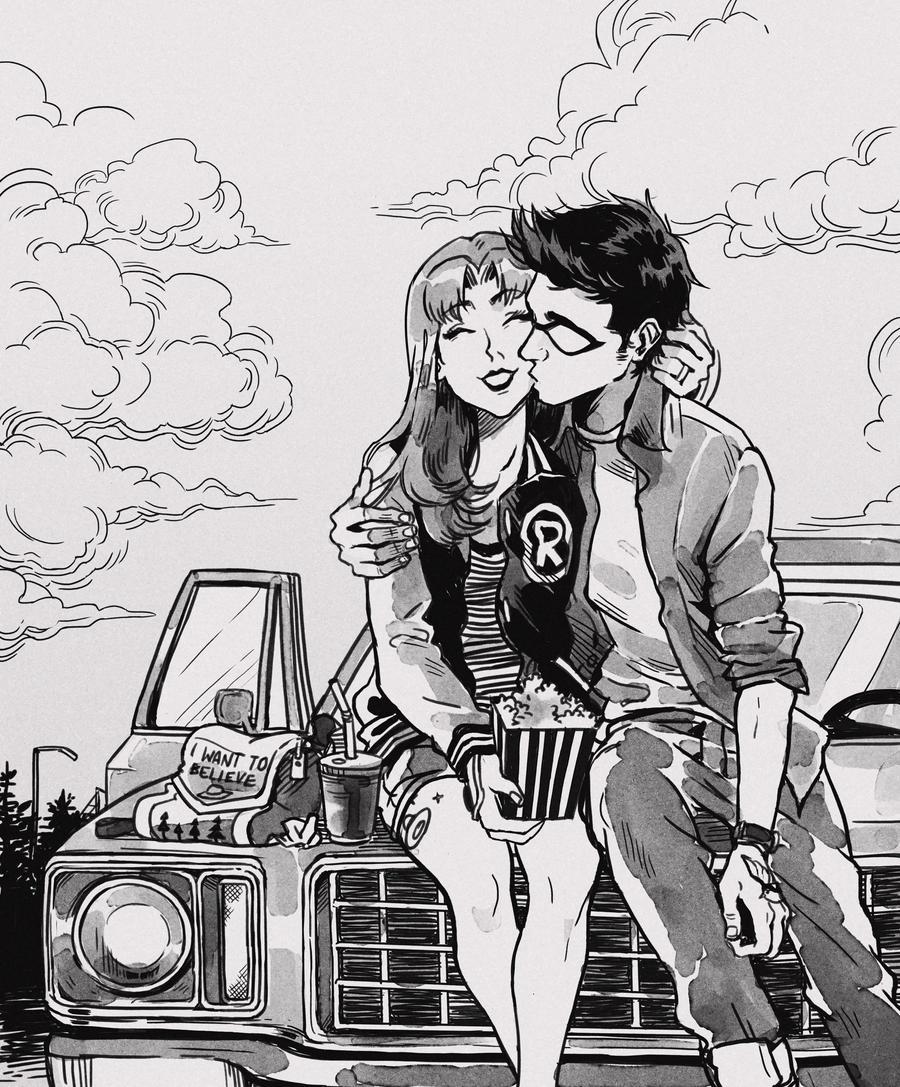 Drive in movies by Picolo-kun