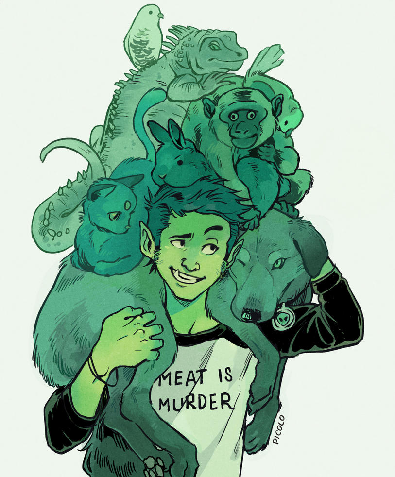 Beast Boy And Pets by Picolo-kun