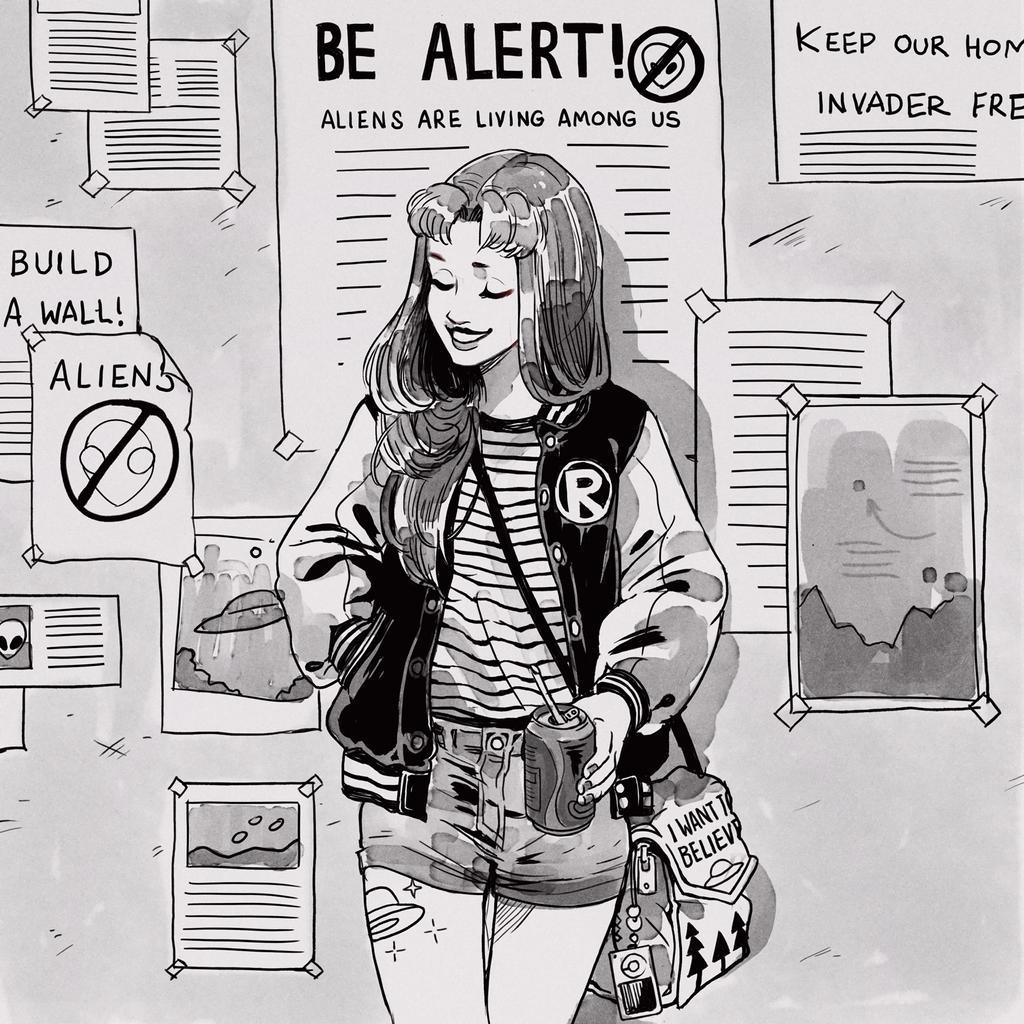 Aliens! Living among us! by Picolo-kun