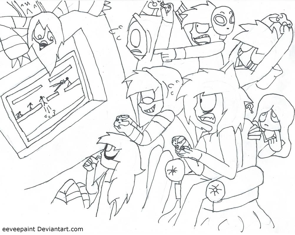 Creepy game time coloring page plz read below by Coloring book hoodie