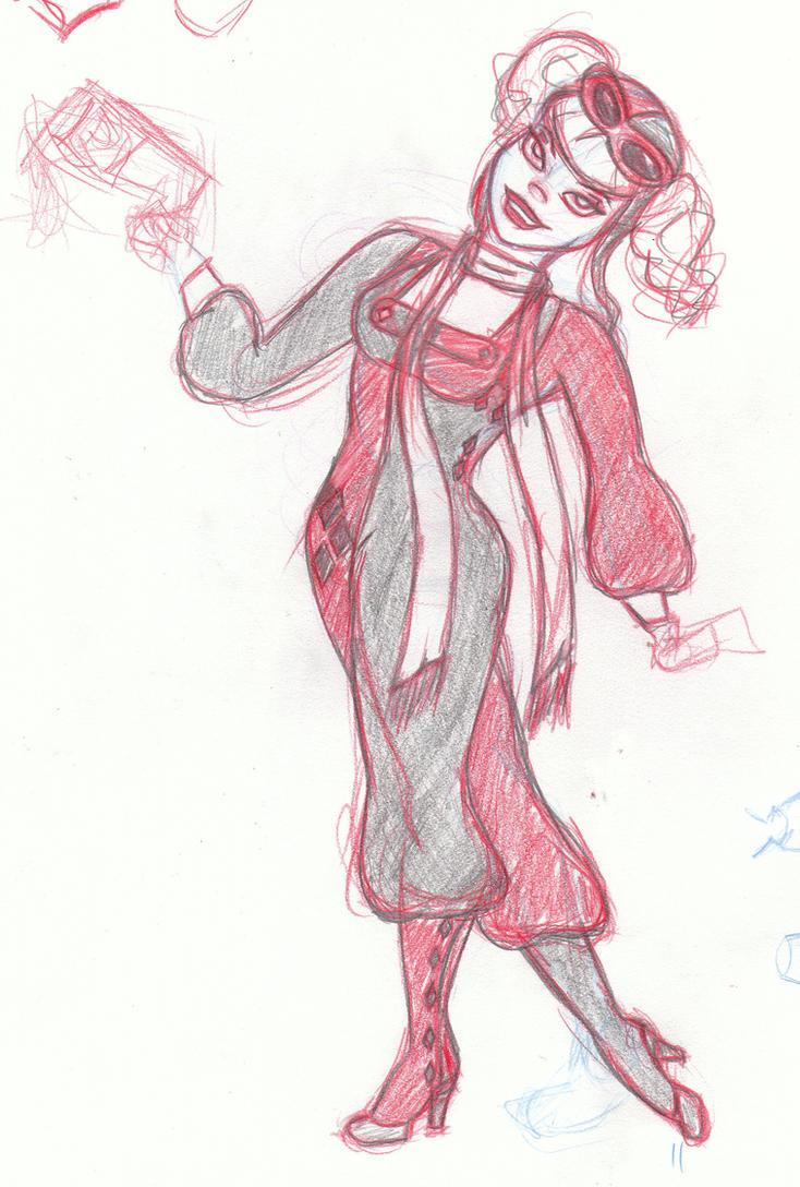 Steampunk Harley Quinn cost3 by Jasmeralda