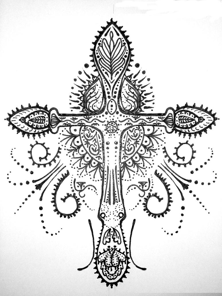Henna Cross By Mercurialdelights On DeviantArt