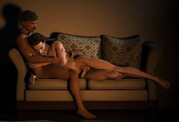 Sofa Snuggle by elenacalderas