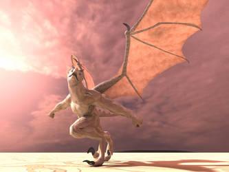 Dragonborn Taking Flight by elenacalderas