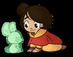 Jinora and Spirit Dragonfly Bunny by Amandoin