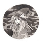 A witch and a frog