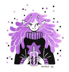 Alien girl by heikala