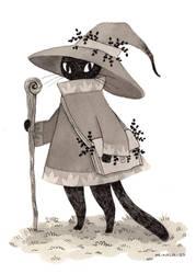 A Wizard Cat by heikala