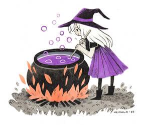 Witch apprentice by heikala