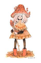 Mushroom Mage by heikala