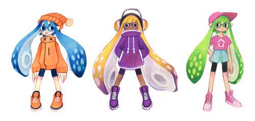 Squid girls by heikala