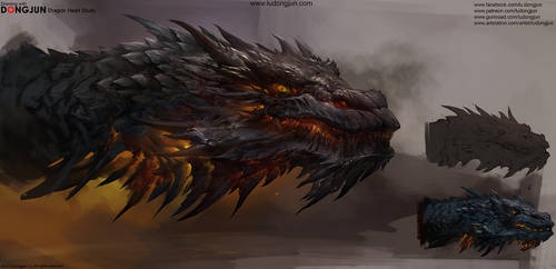 Dragon Head Study by DongjunLu