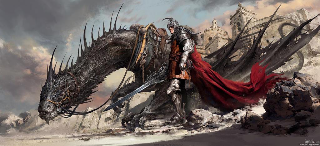 Black Dragon Knight by DongjunLu