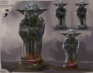 Yoda Metal Statue by DongjunLu