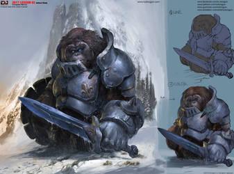 Orangutan Warrior by DongjunLu
