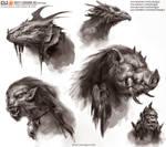 Creature Head Sketch