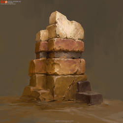 2018 Lesson03_Rock Block Study by DongjunLu