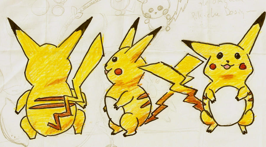 The Original Pikachu Design By Vinmoawalt
