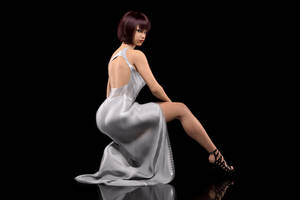 White Draped Dress A by onehaste