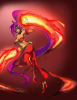 Shantae - Flame cyclone by gpwlghr123