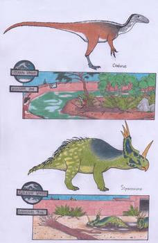 Dinosaur Zoo: Coelurus and Styracosaurus