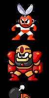 MegaMan 'Sprites'-Bosses of 1 by WaneBlade