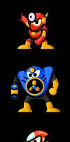 MegaMan 'Sprites'-Bosses of 2 by WaneBlade