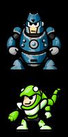 MegaMan 'Sprites'-Bosses of 3