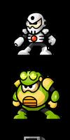MegaMan 'Sprites'-Bosses of 4 by WaneBlade