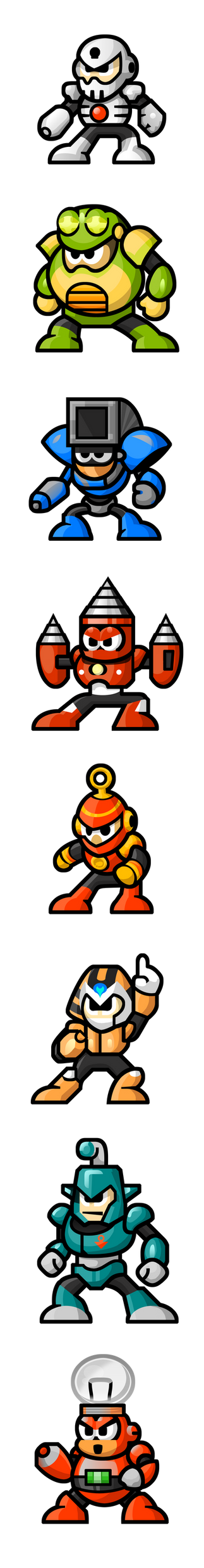 MegaMan 'Sprites'-Bosses of 4 by WaneBlade