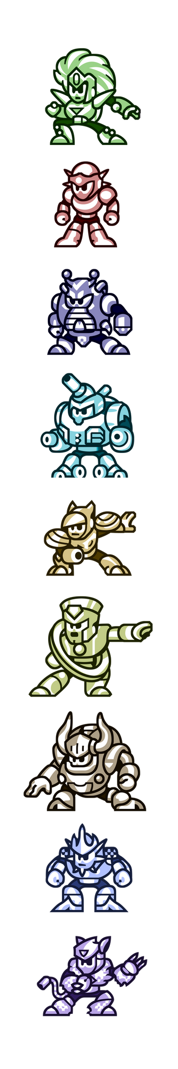 "Megaman""Sprites""-Bosses of V by WaneBlade"