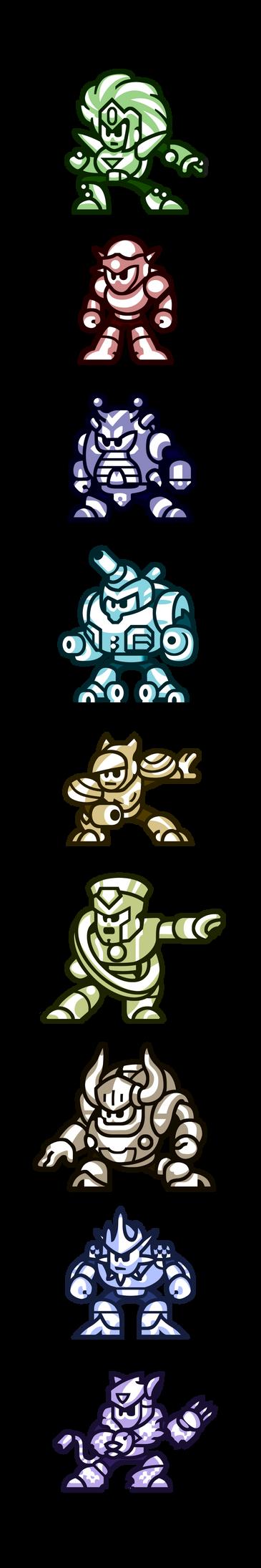 Megaman'Sprites'-Bosses of V by WaneBlade