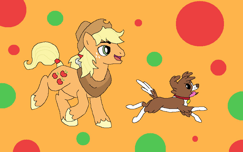 Applejack and Wisconsin by BlueLioness123