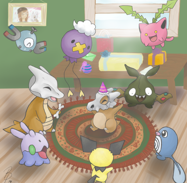 Cubone's Birthday by Brittany-Purcell